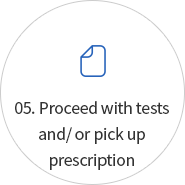 05. Proceed with tests and/ or pick up prescription