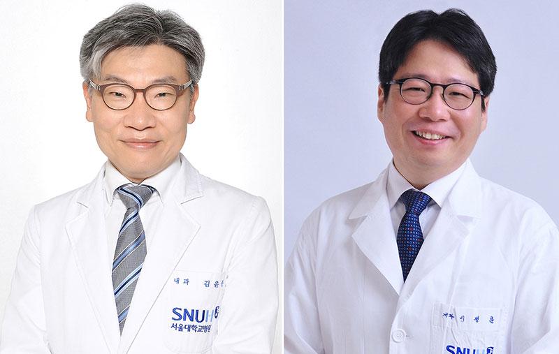 왼쪽부터 김윤준, 이정훈 교수