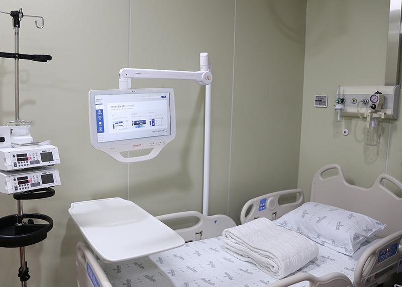 새로 신설된 재난병동(준중환자병동) 내부