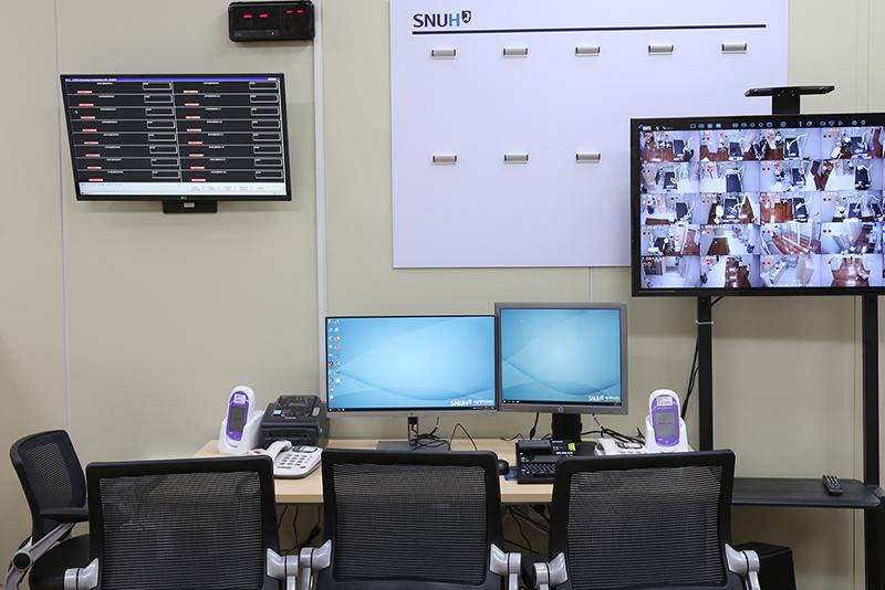 16개 병상이 설치됐으며 실시간 모니터링이 가능하다.